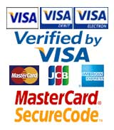 Debit and Credit cards accepted securely.